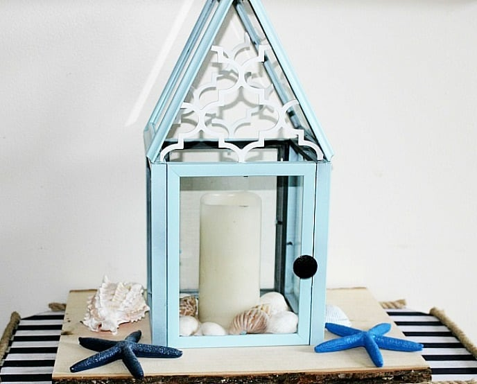 DIY Dollar store lantern to use decorative items around the house #diydollarstore #decor #dollatstore