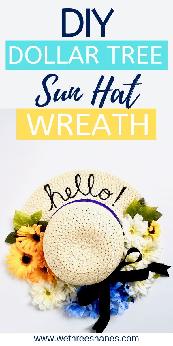How to create your own sun hat using amazing items from the dollar tree #dollarstoreitems