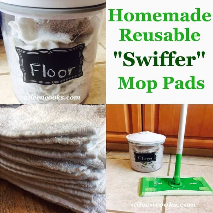 Homemade reusable swiffer mop to make your new floors feel spring like. #cleaningtips