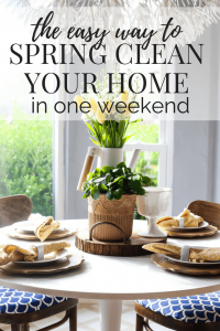 Spring your home in one weekend with our amazing tips! #cleaningtips