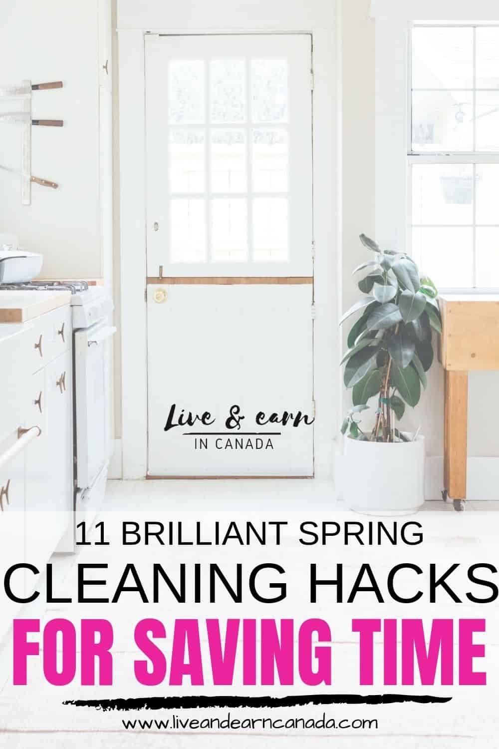 Are you looking for spring cleaning tips to save time? Use these spring cleaning hacks to clean your home faster and to save money! Spring cleaning is not fun! #springcleaning #cleaningtips