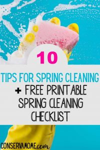 Here are a few spring cleaning hacks for busy moms. Learn how to clean quickly by downloading these free spring cleaning printables #cleaningtips