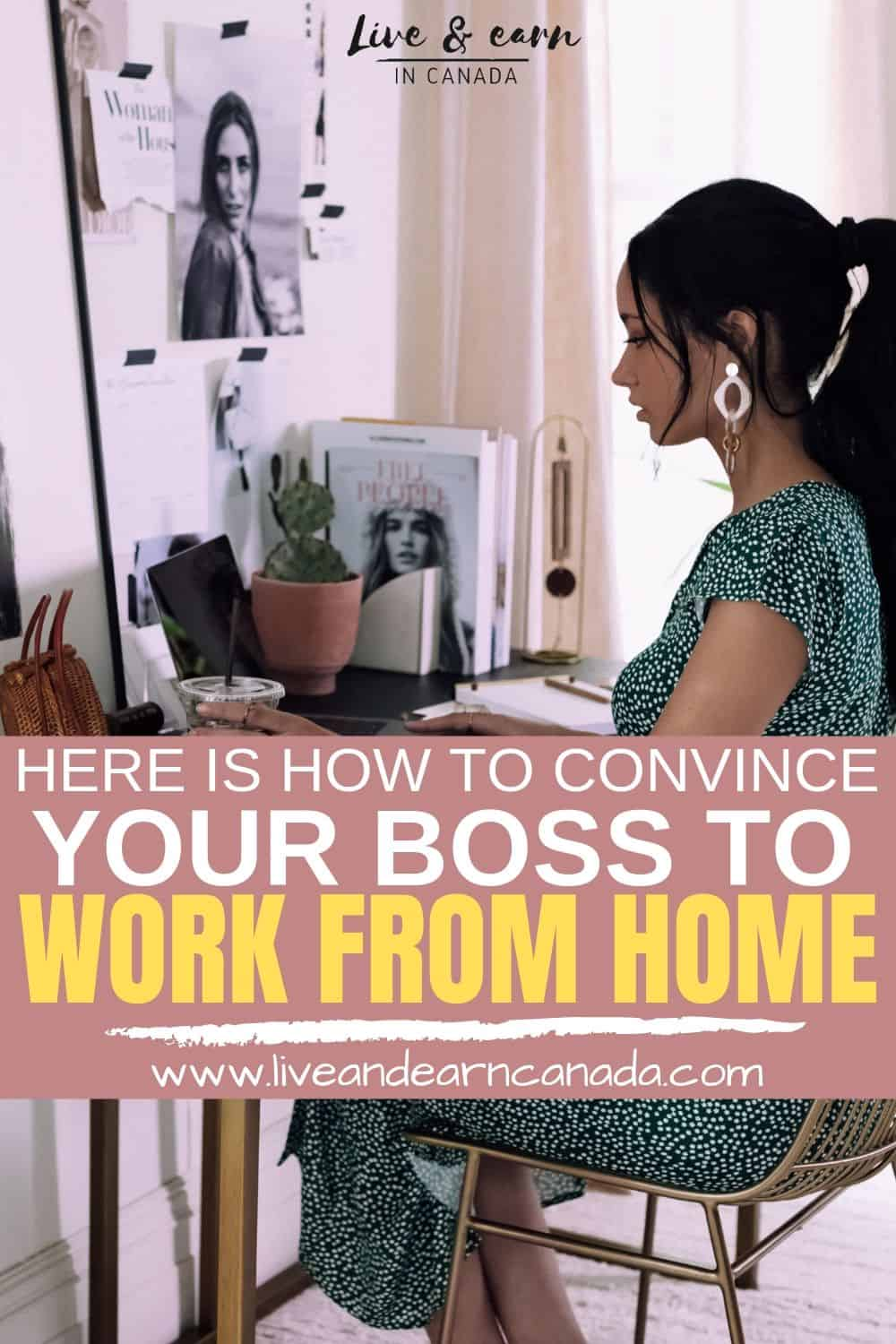 Here is how to convince your boss to work from home part-time. Here is how to land a job working from home part time. #workfromhome #parttimejob #jobs #boss