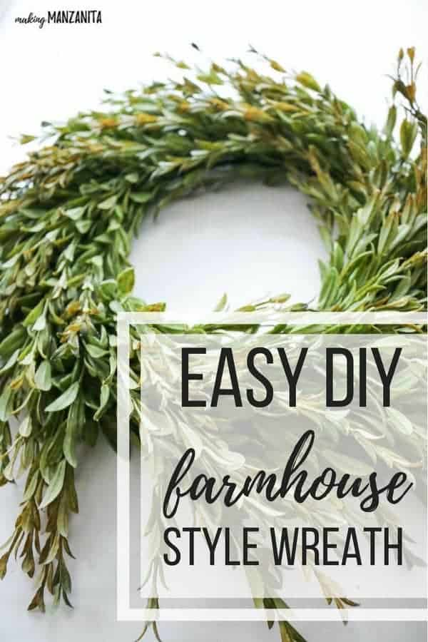 easy to make farmhouse wreath using dollar store items