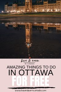 If you are looking for free things to do in Ottawa, check out our mega list of things to do. Ottawa is an amazing city with a lot of amazing attractions. Be sure to visit Ottawa's attractions today #visitottawa #Ottawacity