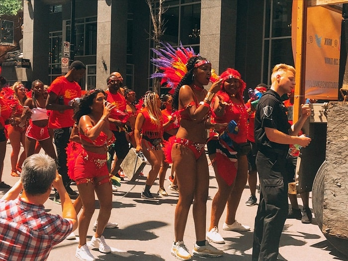 Carifiesta Carnival in Montreal! Carifiesta Caribbean Event, the best event in Montreal. If you are looking for free things to do in Montreal, be sure to attend the Carifiesta! #Montreal #Carivibe