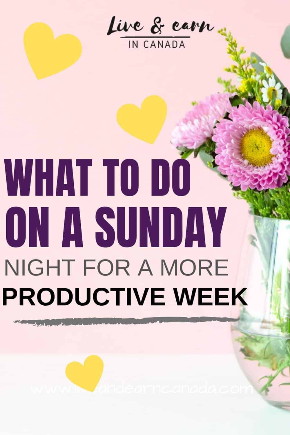 Here is what to do on a Sunday night in order have a successful week. If you want to have a productive week, here is how to plan your Sunday night effectively #sundaynight #productivity #workweek