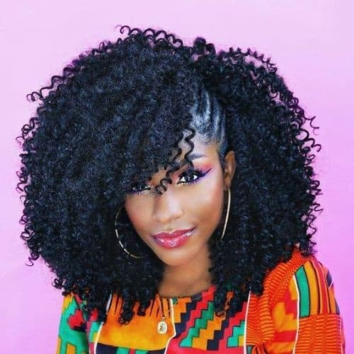 crochet braids with side braids