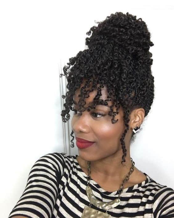 Curly twist braid hairstyles for the beach