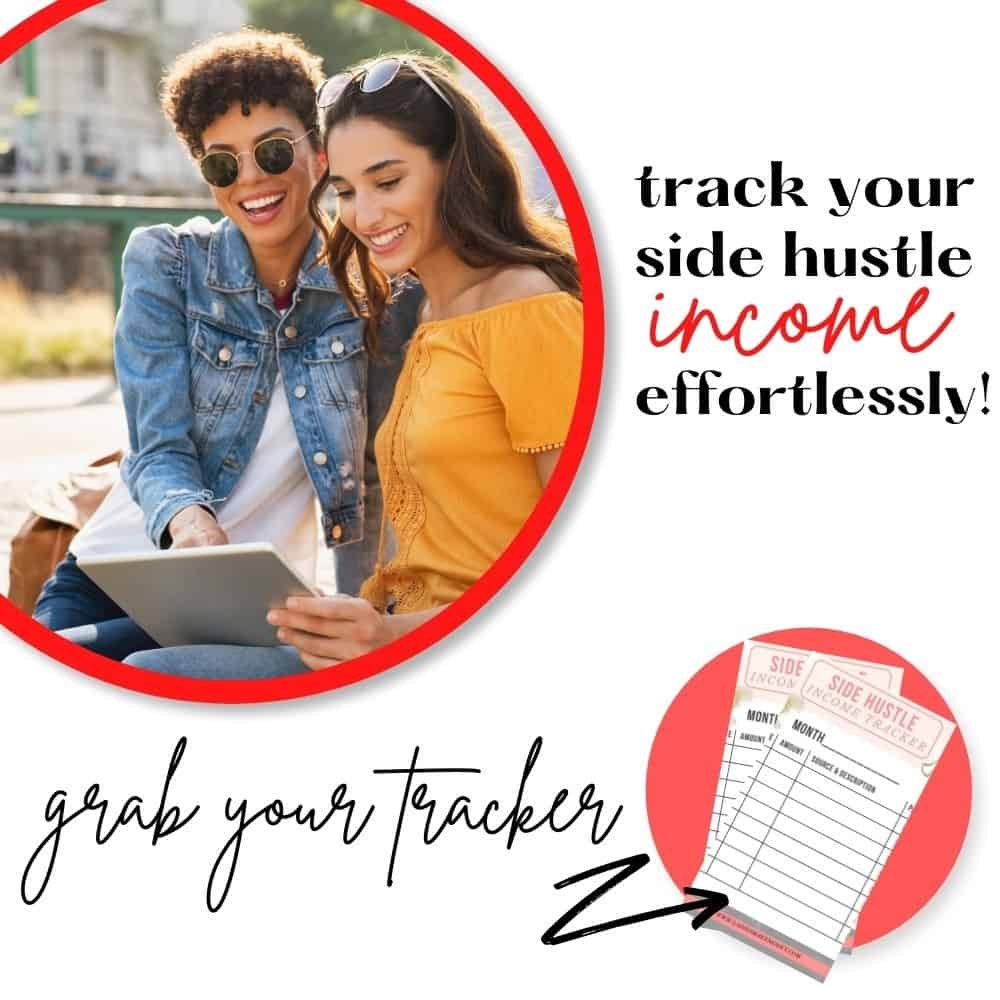 Grab this free income tracker today. If you make money on this side, this income tracker is perfect for ensuring you have your money together.