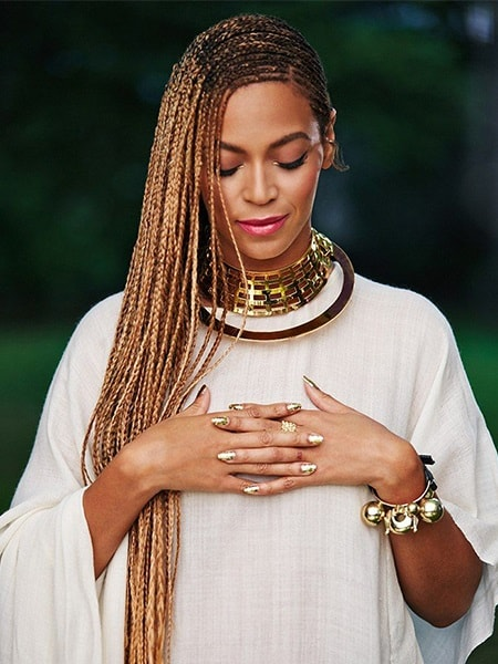 The perfect Beyonce lemon braids, a natural hairstyle for the beach!