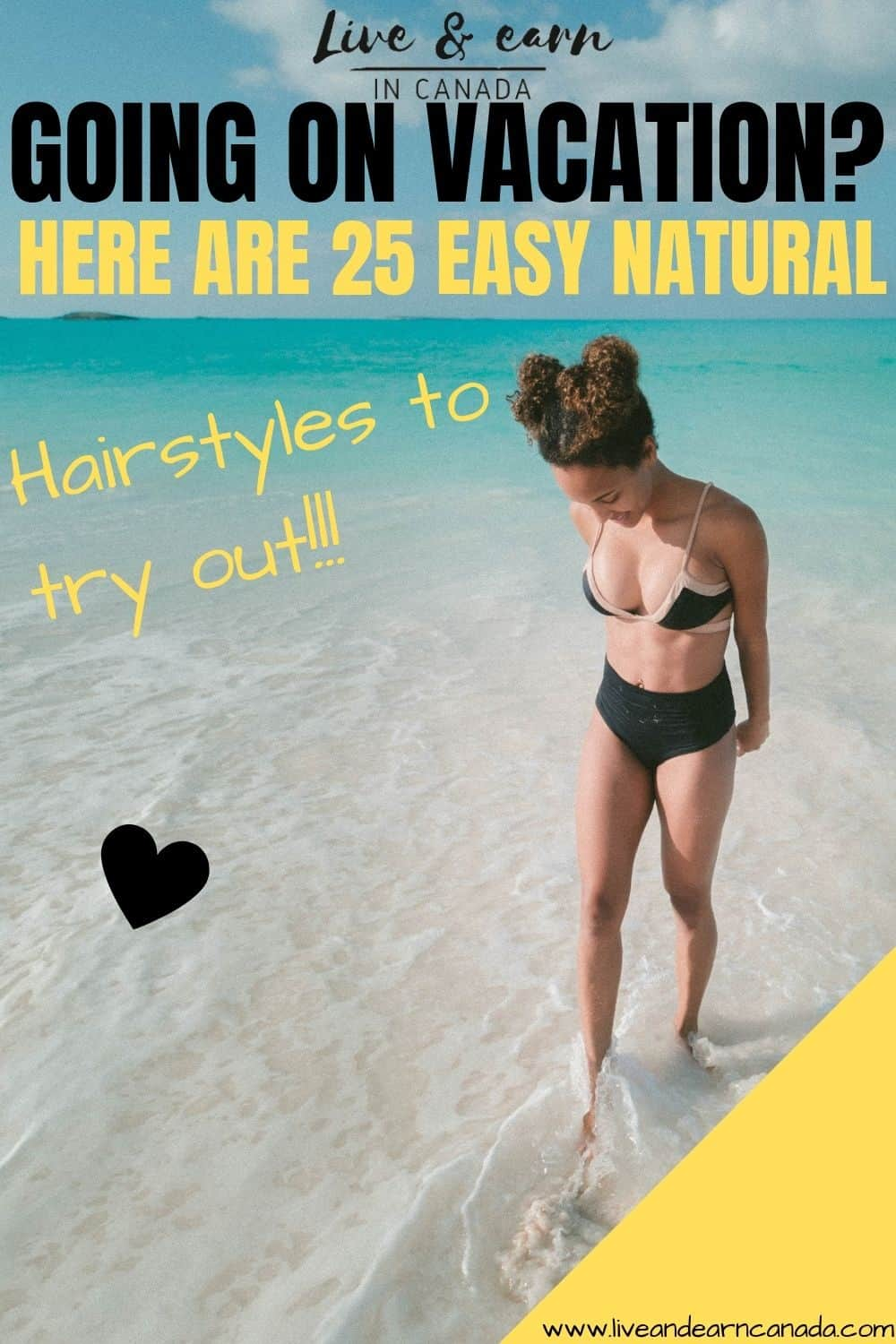 here a few natural hairstyles for the beach to try out! What are some of the best natural hairstyles for swimming? Here is a list of the best natural hairstyles for black women that are going on vacation. Here is how to take care of your natural hair while on vacation by wearing protective styles like crochet braids, cornrows and more #naturalhair #protectivestyle