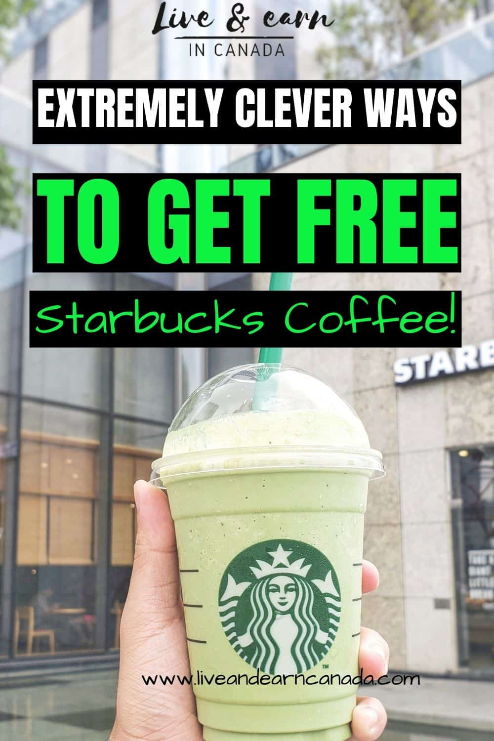 Here is how to get free Starbucks coffee if you want to save money. This is a Starbucks hack for getting free coffee every time #freecoffee #starbuckscoffee #starbucks.