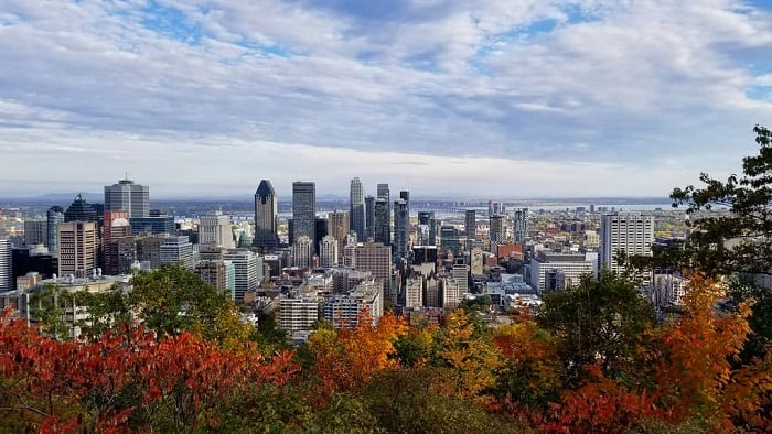 The view from Mount Royal in Montreal!