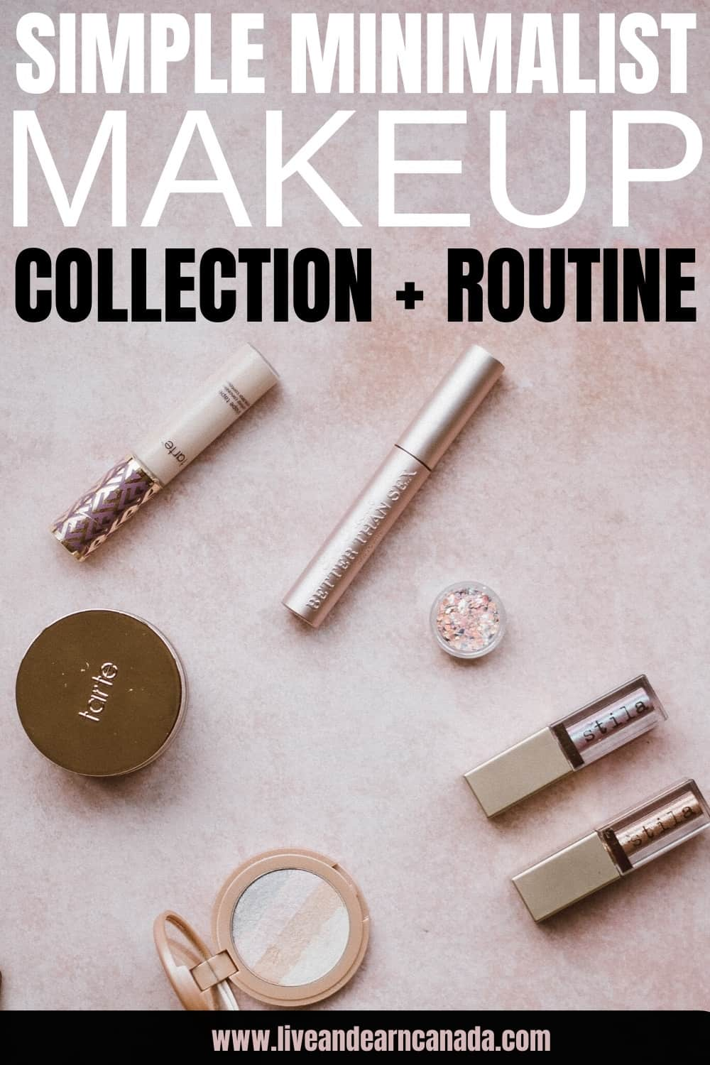 Here is how to create a simple minimalist makeup collection. Here is what to include in your makeup storage collection. Every beauty product to include in your minimalist makeup collection! Natural makeup inspiration ideas! #makeup #beautyproduct #minimalistmakeup