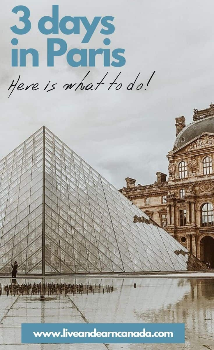 Visit Paris in 3 Days. Here are few exciting things to do while in Paris. ou could spend weeks exploring this city, but here are my top recommendations for those wanting to explore Paris in 3 days. Getting to Paris By Plane Paris is one of the biggest travel hubs! Looking for the best Paris Itinerary? Our guide shows you how to spend 3 Days in Paris and gives you a detailed itinerary covering all of the highlights so you can make the most of your three days in Paris. #parisinthreedays #parisitinerary