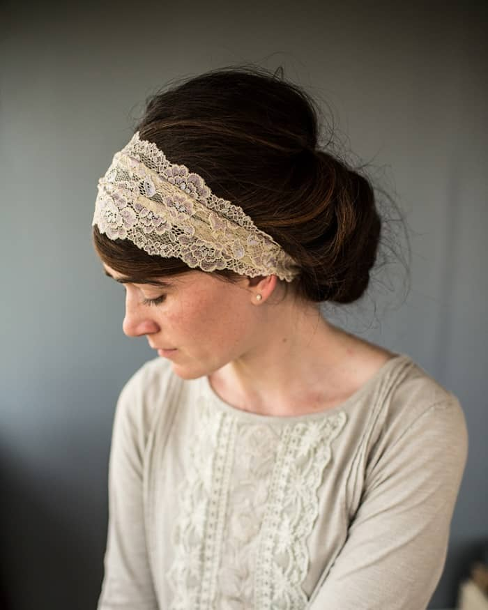 Be ready for special occasions with Garlands of Grace Breathtaking lace coverings. Timeless, delicate lace hair wraps are made in varied laces in rich, versatile colors. Lovely neutral colors for any occasion #laceheadwraps If you are thinking of wearing a scarf in your hair!