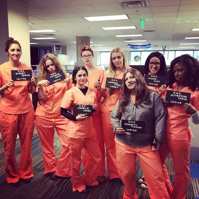 DIY Halloween Costume - Orange is the new black. Create your own Group Costume for Halloween using our tips!