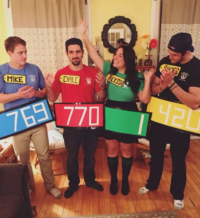 Check out this simple DIY the price is right group Halloween Costume idea you can try with your friends.