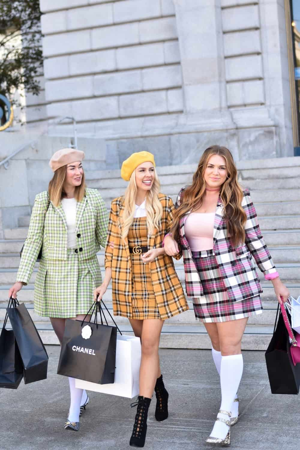 Check out this clueless Halloween costume look you can do with the girls.