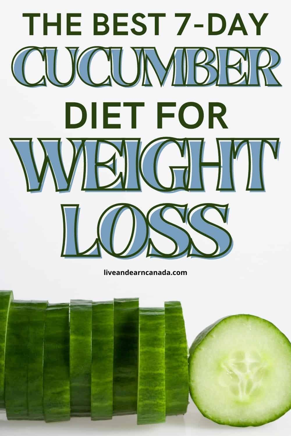 Cucumber Diet Lose 15 Pounds In 7 Days! Do you like cucumbers? That's good for you! A cucumber is a tasty, low-calorie vegetable that can help you slim down easily. One average cucumber contains twenty calories, which is very good for weight loss. Read one fast diet you can use to drop those extra pounds 7 days. In fact, it's the cucumber diet together with its meal plan.