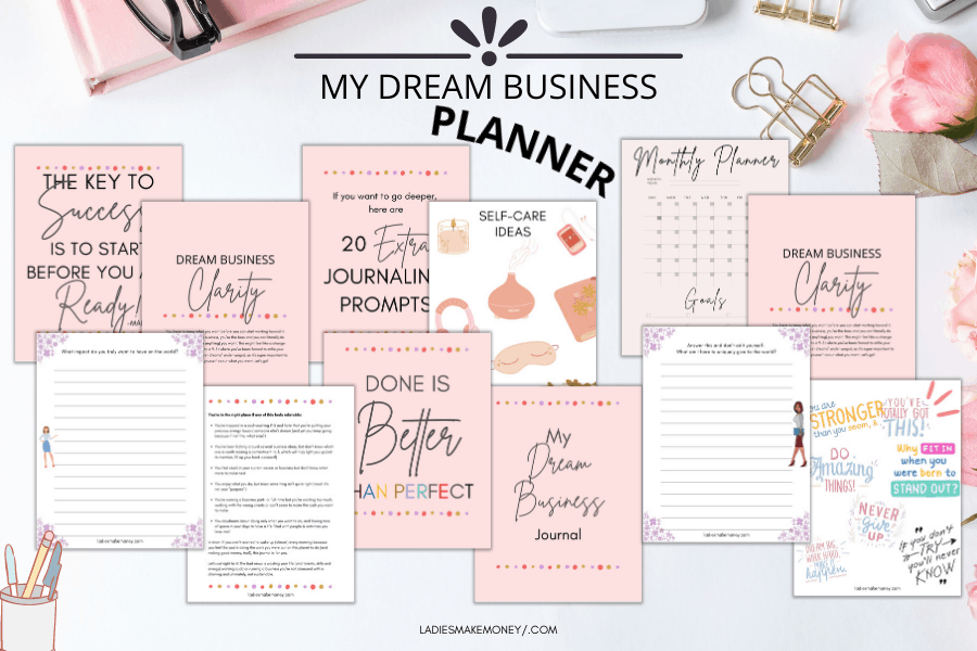 My dream business planner. Perfect for those looking for home based job opportunities in Canada.