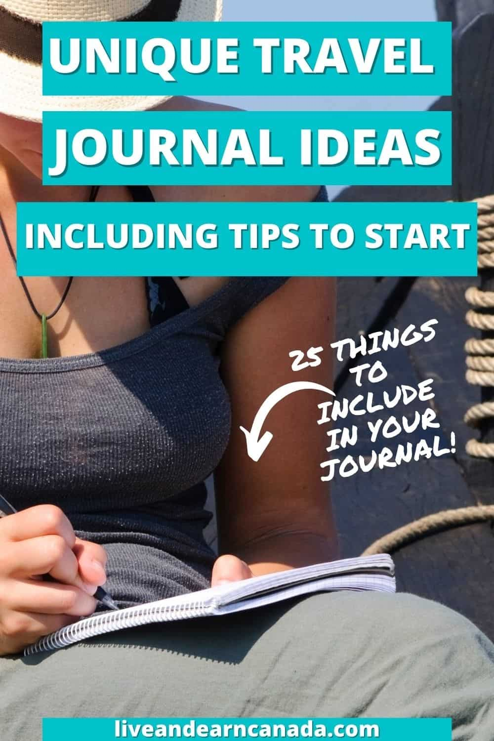 Easy Travel Bullet Journal Ideas To Plan Your Travels! Travel Journal Ideas: 25 Things to Include in Your Travel Journal Do you want to start documenting your travels? Here are some travel journal ideas to help get you started along with 25 things to include in your journal.