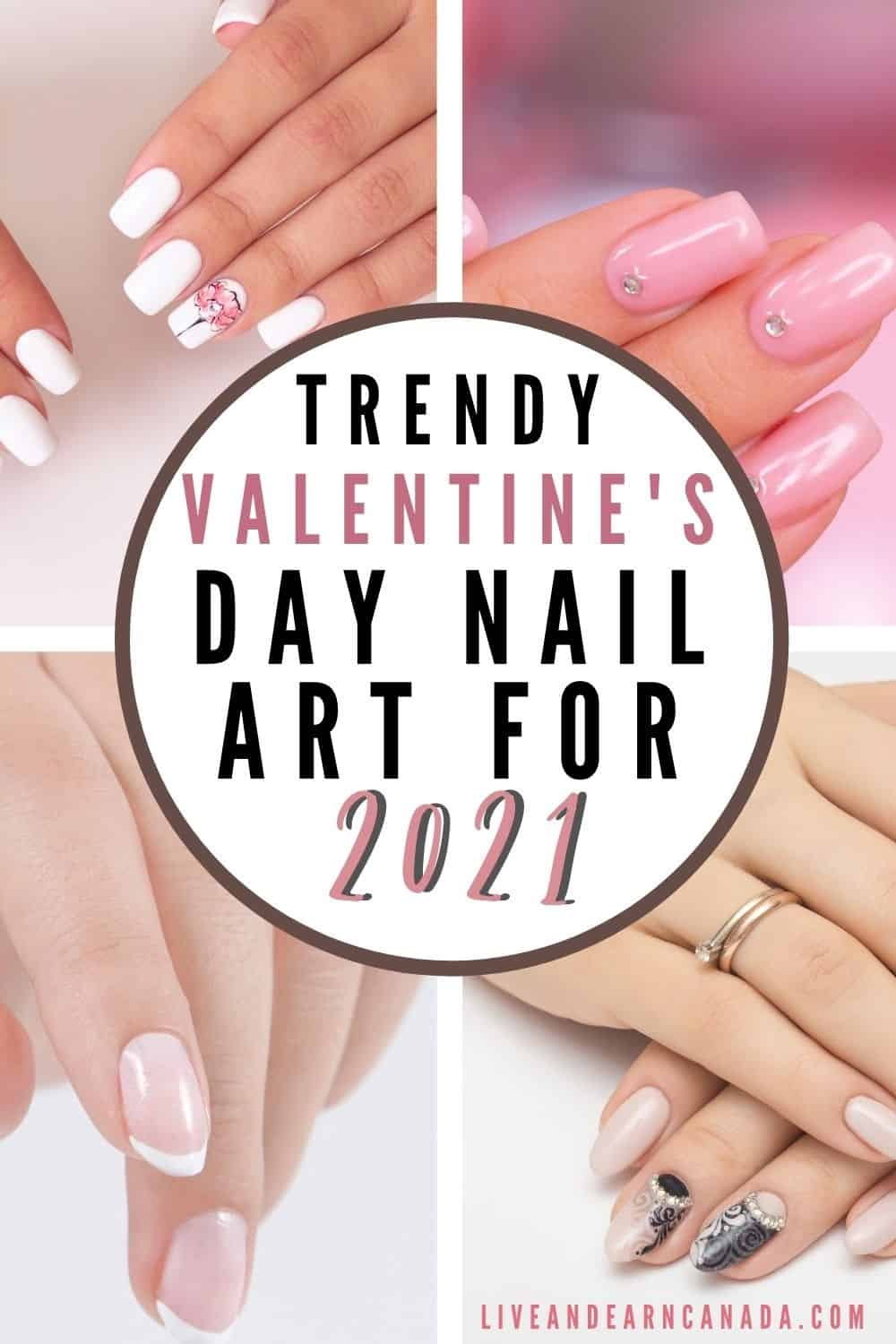 Simple Heart Nail Designs For Valentine's Day! Trendy Valentine's Day Nails For 2021. Valentine's Day is such a fun, extra holiday that can be done in a really classy way. I love decorating my home, baking, finding a gorgeous outfit, and even doing my nails for the holiday.